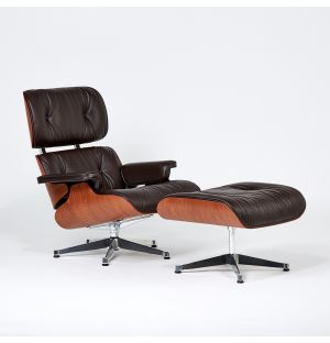Limited Edition Eames Lounge Chair & Ottoman Vegetable Tan Leather