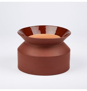 Spool Planter Burnt Terracotta 15cm
