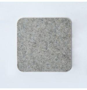 Felt Square Coaster Light Grey