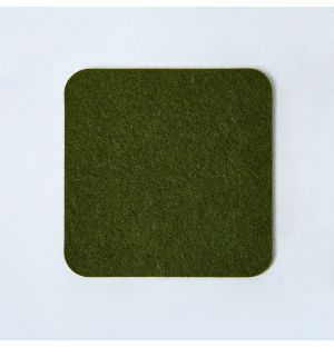 Felt Square Coaster Olive Green