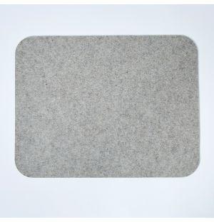 Felt Rectangular Placemat Light Grey