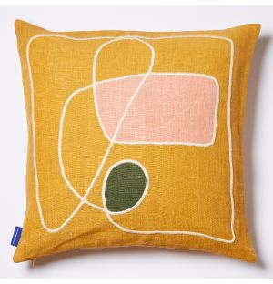 Tuma Cushion Cover in Ochre 45cm x 45cm