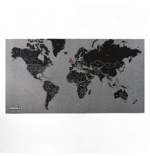 Pin World Map Black