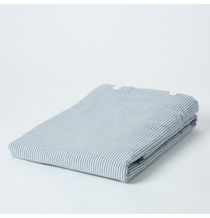 Blue Stripe Stonewashed Cotton Bed Linen Collection