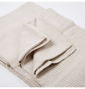 Natural Stripe Bed Linen Collection