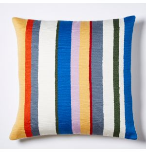 Meja Stripe Embroidered Cushion Cover in Multi 45cm x 45cm