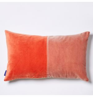 Tonal Velvet Cushion Cover in Pink & Red 30cm x 50cm