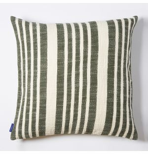 Woven Stripe Cushion Cover in Green 50cm x 50cm