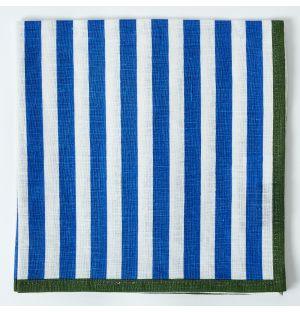 Linen Napkin in Navy Stripe