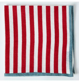 Linen Napkin in Red Stripe