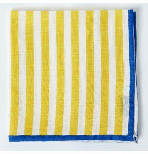 Linen Napkin in Ochre Stripe