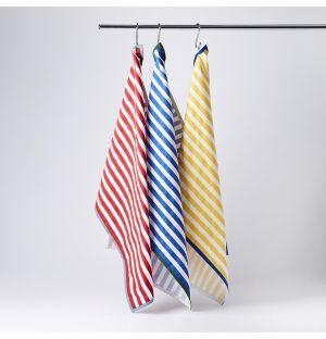 Tea Towels in Multi Stripe Set of 3