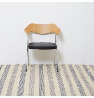 Wool Stripe Rug in Blue