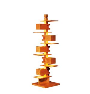 Taliesin 3 Floor Lamp Cherry