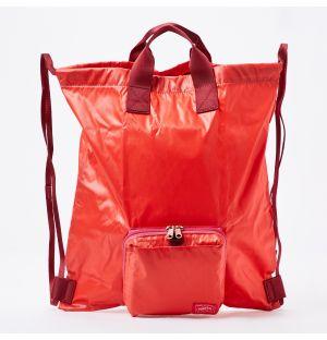 Porter Snack Pack Packable Knapsack in Scarlet