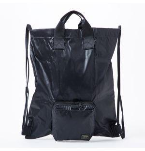 Porter Snack Pack Packable Nap Sack in Black