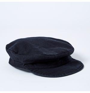 Large Fisherman Cap in Black