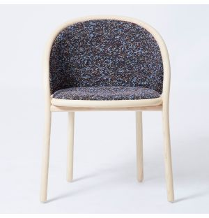 Ex-Display Latis Chair in Natural Ash & Lilac Atom Upholstery