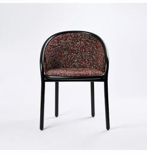 Ex-Display Latis Chair in Black Ash & Red Atom Upholstery