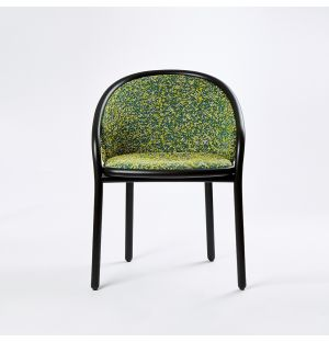 Ex-Display Latis Chair in Black Ash & Green Upholstery