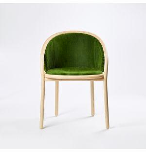 Ex-Display Latis Chair in Natural Ash & Green Phlox Upholstery