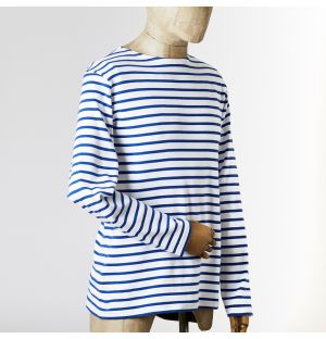 Heritage Breton Long Sleeve Tee White & Cobalt