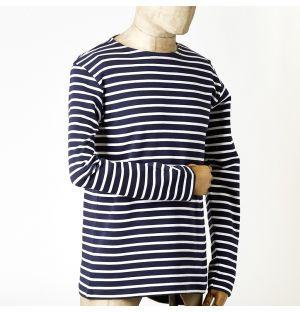 Heritage Breton Long Sleeve Tee Navy & White