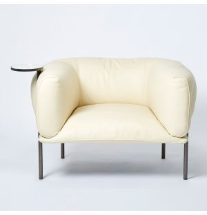 Ex-Display Rondo Armchair with Right Side Table in White