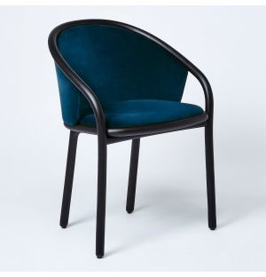 Latis Chair in Black Ash & Duro Velvet Upholstery