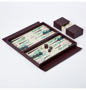 Signature Backgammon Travel Set Palm
