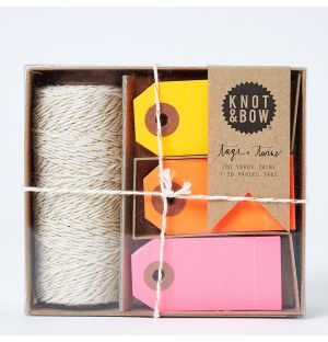 Tag + Twine Box in Gold & Warm Neon