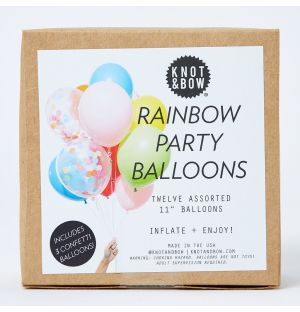 Party Balloons in Rainbow