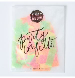 Party Confetti Bag in Neon