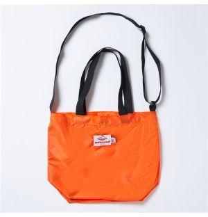 Mini Packable Tote Bag in Orange