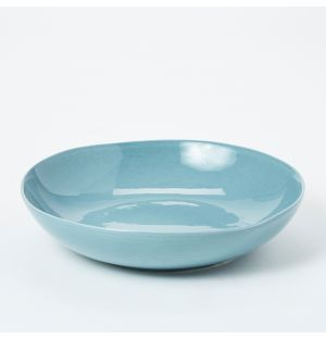 Pintura Washed Pasta Bowl in Stone Blue
