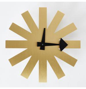 Asterisk Clock in Brass