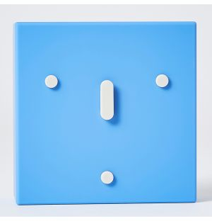 Face Clock Blue