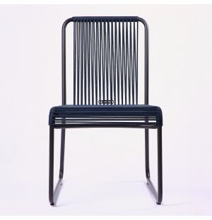 HARP 749 Side Chair in Smoke & Blue Ex-Display