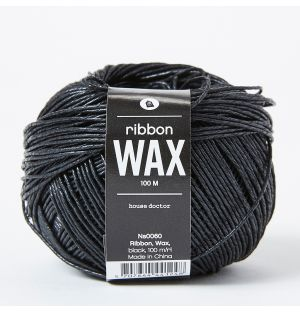 Waxed Chunky Ribbon in Black