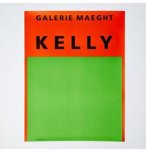 Ellsworth Kelly 'Orange et Vert' Poster