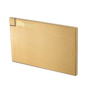 LifeCard Portable Power Bank Gold