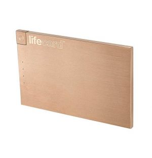 LifeCard Portable Power Bank Rose Gold