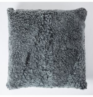 Sheepskin Cushion Cover in Graphite 45cm x 45cm