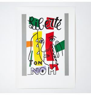 Fernand Léger 'Liberté, J'écris Ton Nom' Poster