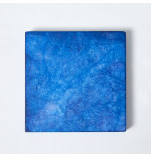 Alabaster Square Coaster in Lapis Blue