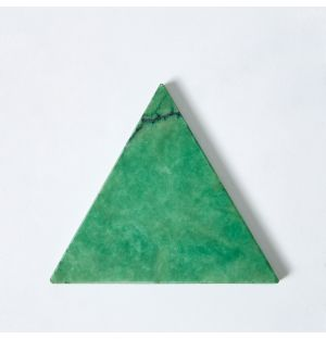 Alabaster Triangle Coaster in Green