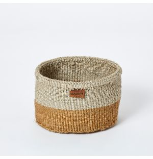 Extra Small Colour Block Basket in Natural