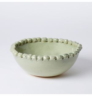 Small Malibu Serving Bowl in Green