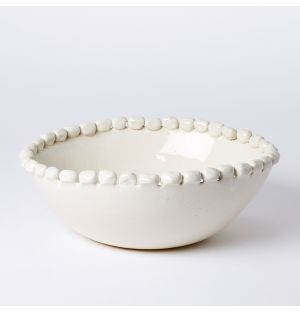 Large Malibu Serving Bowl in White