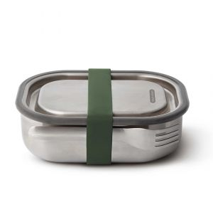 Large Stainless Steel Lunch Box in Olive